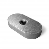 Oval nut 12x25mm for t-track 19mm
