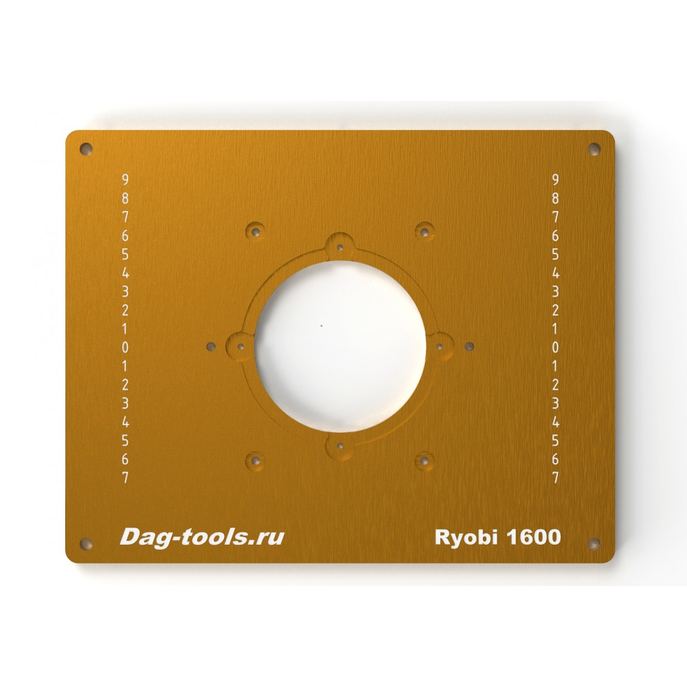 Milling plate Dag-tools Ryobi RRT 1600
