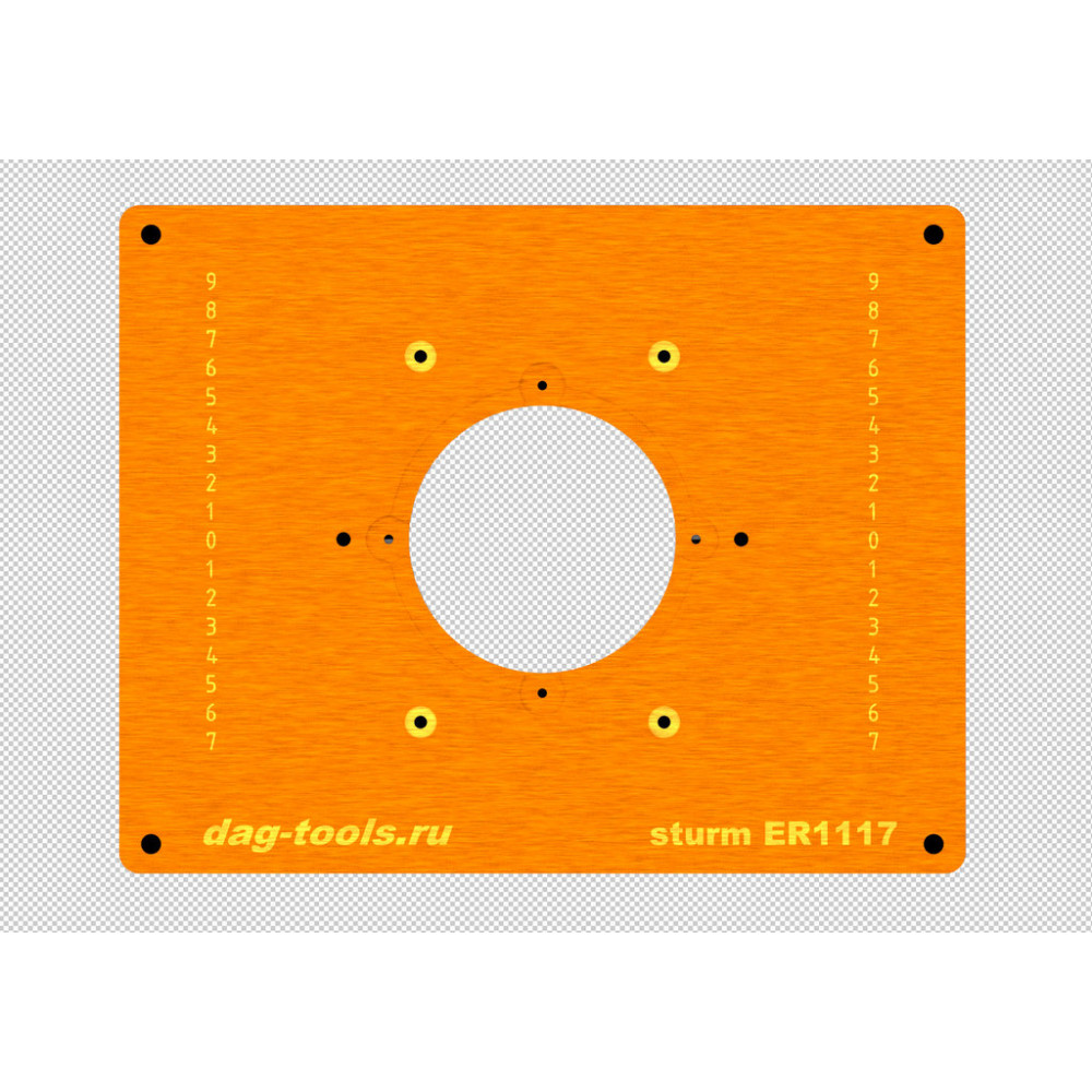 Milling plate Dag-tools Sturm ER1117