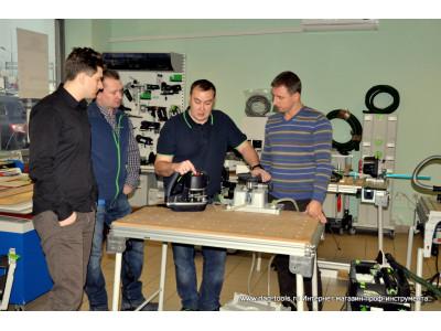 Demonstration of the Festool KA 65-Plus edge banding machine